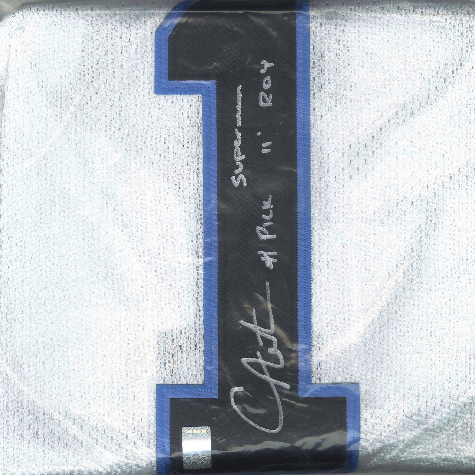 236a54e8c Cam Newton Signed Panthers Rookie Jersey (Inscription) | MVP Sports ...